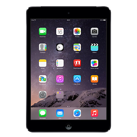 Buy Apple iPad mini with Retina display, Apple A7, iOS 7, 7.9, Wi-Fi & Cellular, 16GB, Space Grey Online at johnlewis.com