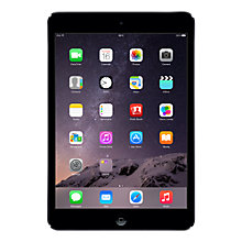 "Buy Apple iPad mini with Retina display, Apple A7, iOS 7, 7.9"", Wi-Fi, 16GB, Space Grey Online at johnlewis.com"