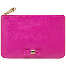 Buy Mulberry Bow Leather Pouch, Pink/Gold Online at johnlewis.com