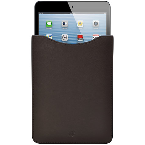 Buy Mulberry Simple iPad Mini Sleeve, Chocolate Online at johnlewis.com