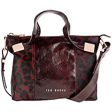Buy Ted Baker Seriah Exotic Metal Square Tote Bag Online at johnlewis.com