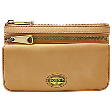 Buy Fossil Explorer Flap Leather Clutch Purse, Camel Online at johnlewis.com