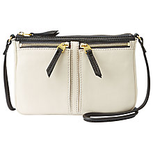 Buy Fossil Erin Leather Small Top Zip Shoulder Handbag Online at johnlewis.com