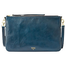 Buy Fossil Sydney Small Travel Across Body Leather Handbag Online at johnlewis.com