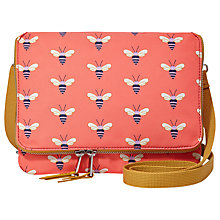 Buy Fossil Keyper Mini Flap Across Body Bag, Pink Online at johnlewis.com