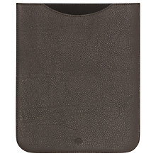 Buy Mulberry Simple Leather iPad Sleeve, Chocolate Online at johnlewis.com