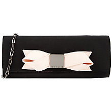 Buy Ted Baker Bowla Satin Bow Clutch Bag Online at johnlewis.com