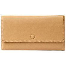Buy Fossil Abbot Leather Flap Clutch Purse, Tan Online at johnlewis.com
