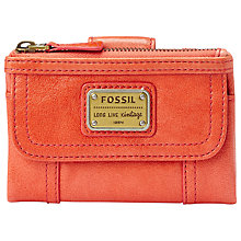 Buy Fossil Emory Leather Purse, Pink Online at johnlewis.com