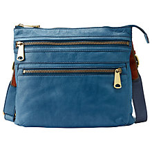 Buy Fossil Explorer Leather Across Body Handbag Online at johnlewis.com