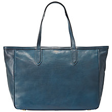 Buy Fossil Sydney Leather Tote Handbag, Heritage Blue Online at johnlewis.com
