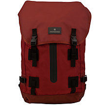 "Buy Victorinox Flapover Drawstring 15.6"" Laptop Backpack Online at johnlewis.com"