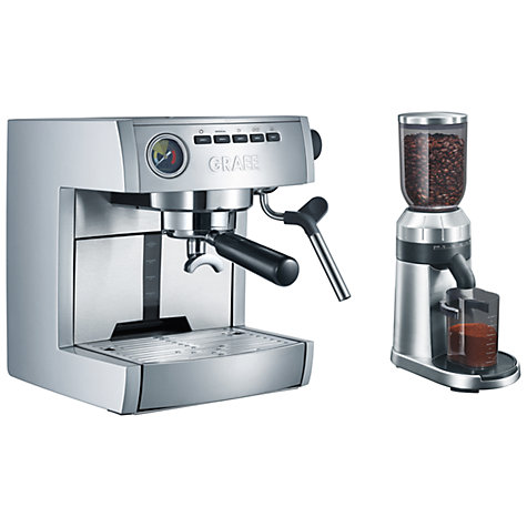 Buy Graef ES85 Espresso Coffee Machine with CM80 Coffee Grinder Online at johnlewis.com