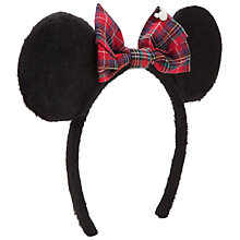 Buy John Lewis Girl Minnie Mouse Ears, Black Online at johnlewis.com