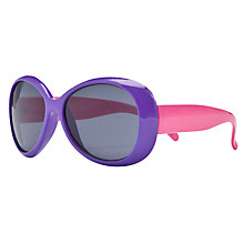 Buy John Lewis Girl Colour Block Neon Sunglasses, Pink/Purple Online at johnlewis.com