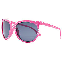 Buy John Lewis Girl Polka Dot D Shape Sunglasses, Pink Online at johnlewis.com