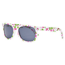 Buy John Lewis Girl Ditsy Floral Wayfarer Sunglasses, White Online at johnlewis.com