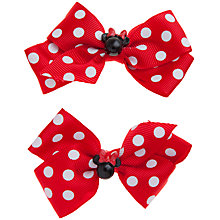 Buy John Lewis Girl Minnie Mouse Polka Dot Clips, Red Online at johnlewis.com