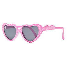 Buy John Lewis Girl Disney Heart Shape Minnie Mouse Sunglasses, Pink Online at johnlewis.com