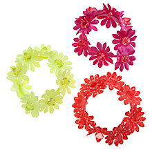 Buy John Lewis Girl Flower Ties, Pack of 3, Multi Online at johnlewis.com