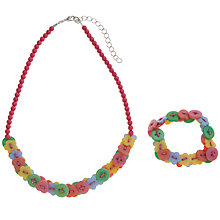 Buy John Lewis Girl Button Bead Necklace and Bracelet Set Online at johnlewis.com
