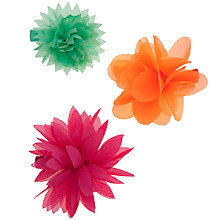 Buy John Lewis Girl Organza Flower Clips, Pack of 3, Multi Online at johnlewis.com