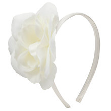 Buy John Lewis Girl Corsage Alice Band, Cream Online at johnlewis.com