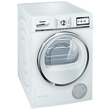 Buy Siemens WT48Y801GB Condenser Tumble Dryer, 8kg Load, A+++ Energy Rating, White Online at johnlewis.com