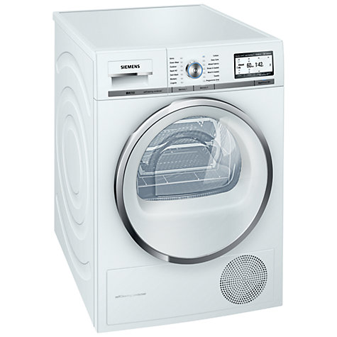 Buy Siemens WT48Y801GB Heat Pump Condenser Tumble Dryer, 8kg Load, A+++ Energy Rating, White Online at johnlewis.com