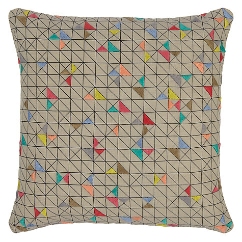 Buy John Lewis Embroidered Triangles Cushion Online at johnlewis.com
