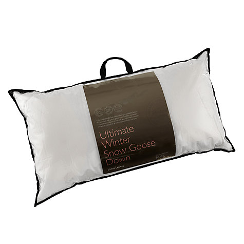 Buy John Lewis Ultimate Winter Snow Goose Down Kingsize Pillow, Soft Online at johnlewis.com