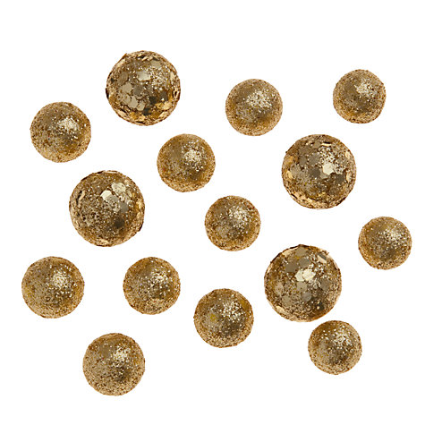 Buy John Lewis Mini Sparkle Balls, Gold Online at johnlewis.com