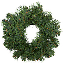 Buy John Lewis Douglas Wreath, 30cm, Green Online at johnlewis.com