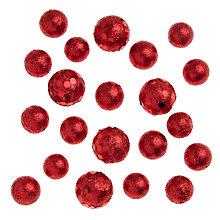 Buy John Lewis Mini Sparkle Balls, Red Online at johnlewis.com