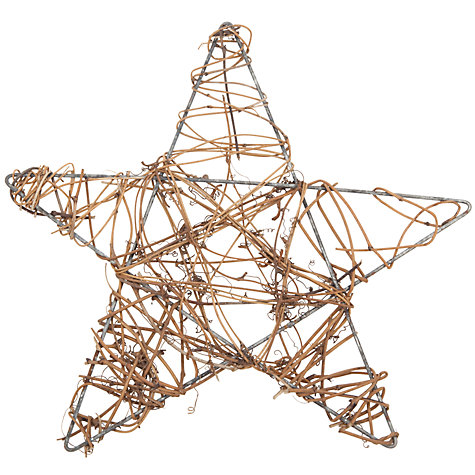 Buy John Lewis Vine Star, 25cm, Brown Online at johnlewis.com