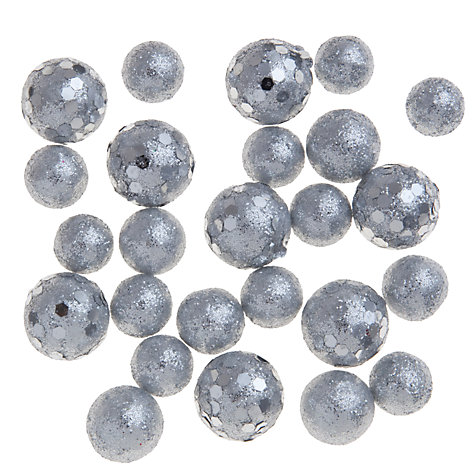 Buy John Lewis Mini Sparkle Balls, Silver Online at johnlewis.com