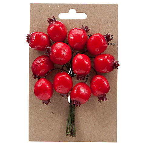 Buy John Lewis Pomegranate Berries Christmas Decoration, Red Online at johnlewis.com
