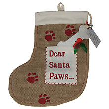 "Buy Reg & Ruby ""Santa Paws"" Hessian Dog Stocking Online at johnlewis.com"