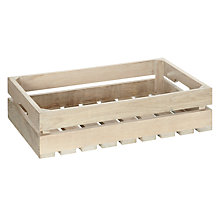 Buy John Lewis Croft Collection Whitewash Wood Crate Online at johnlewis.com