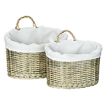 Buy John Lewis Maison Lined Wall Baskets, Set of 2 Online at johnlewis.com