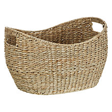Buy John Lewis Oval Twist Seagrass Basket Online at johnlewis.com