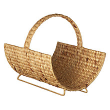 Buy John Lewis Water Hyacinth Log Carrier Online at johnlewis.com