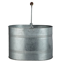 Buy John Lewis Brooklyn Galvanised Wringer Bucket Online at johnlewis.com