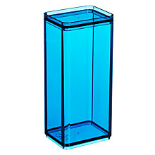 Buy House by John Lewis Tall Lidded Storage Box, Blue Online at johnlewis.com