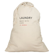 Buy John Lewis Brooklyn Laundry Bag, Natural Online at johnlewis.com