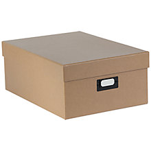 Buy House by John Lewis Fixed Side Box, Large, Natural cardboard Online at johnlewis.com