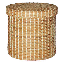 Buy John Lewis Round Rattan Box with Lid Online at johnlewis.com