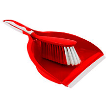 Buy John Lewis Dustpan and Brush Set, Red Online at johnlewis.com