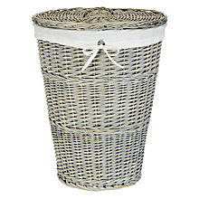 Buy John Lewis Maison Washed Laundry Basket Online at johnlewis.com