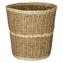 Buy John Lewis Striped Seagrass and Wicker Wastepaper Basket Online at johnlewis.com